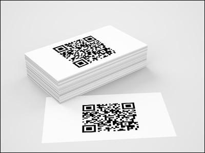 QR contact : carte de visite