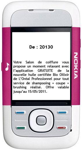L'Oréal Professionnel - Campagne SMS